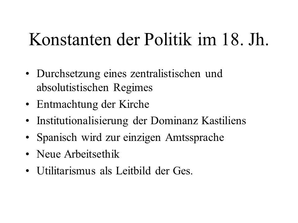Konstanten der Politik im 18. Jh.