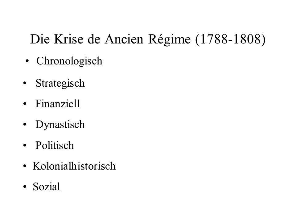 Die Krise de Ancien Régime (1788-1808)