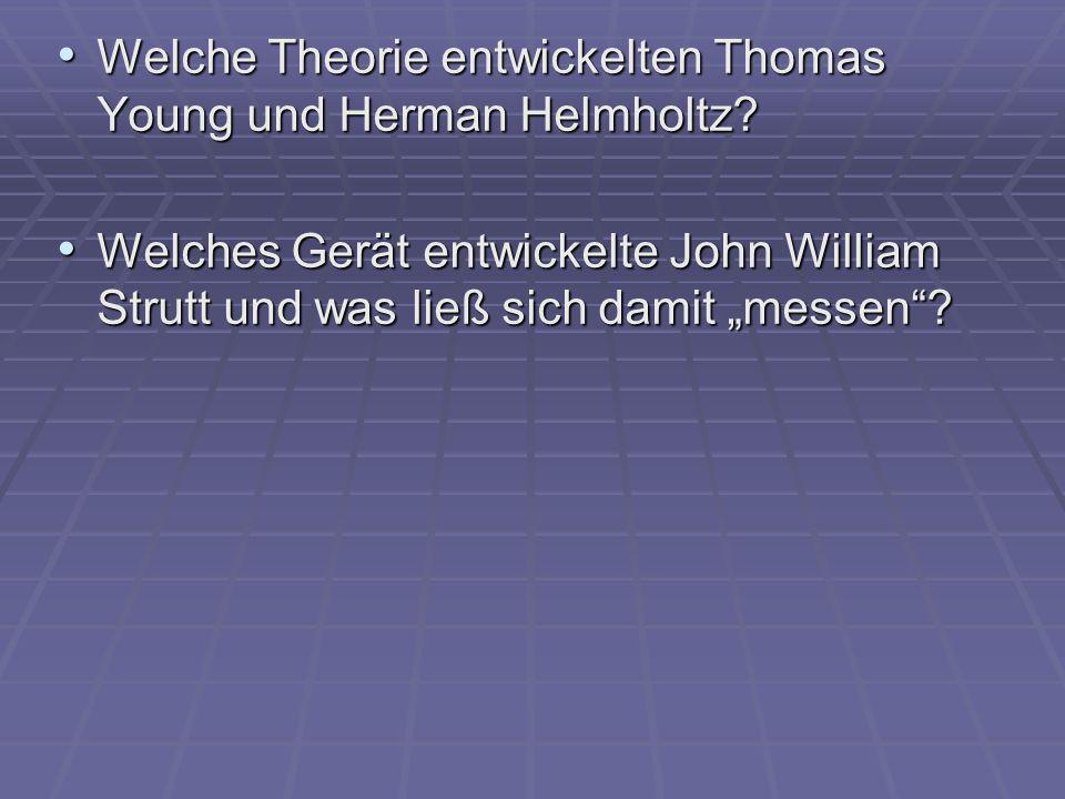 Welche Theorie entwickelten Thomas Young und Herman Helmholtz