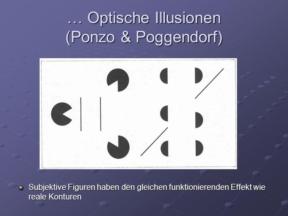 … Optische Illusionen (Ponzo & Poggendorf)