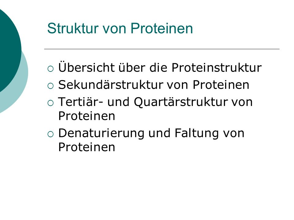Struktur von Proteinen
