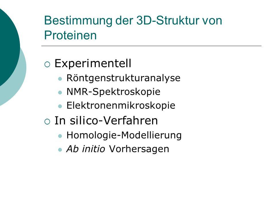 Bestimmung der 3D-Struktur von Proteinen