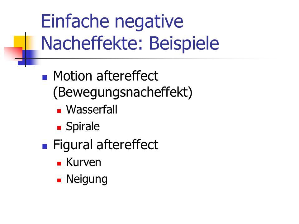 Einfache negative Nacheffekte: Beispiele