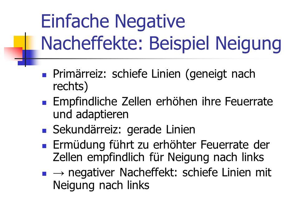 Einfache Negative Nacheffekte: Beispiel Neigung