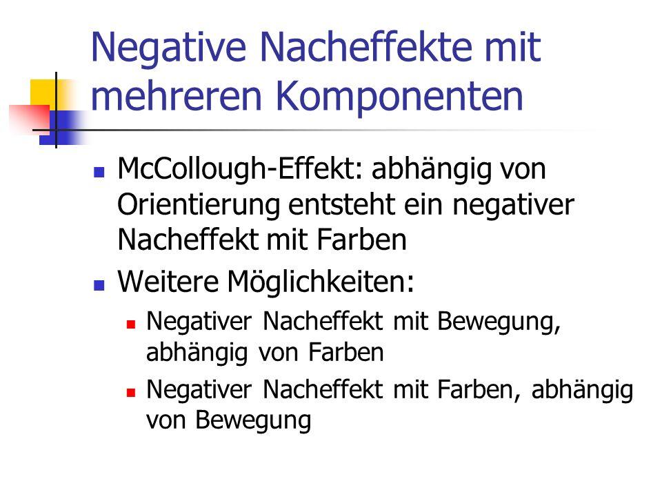 Negative Nacheffekte mit mehreren Komponenten