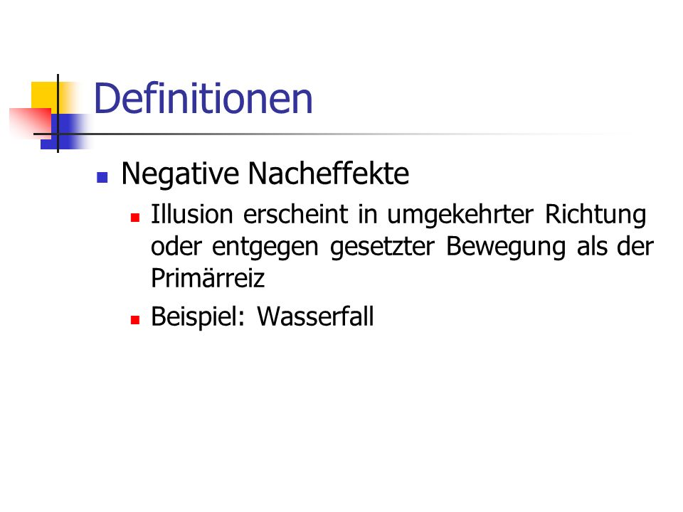 Definitionen Negative Nacheffekte