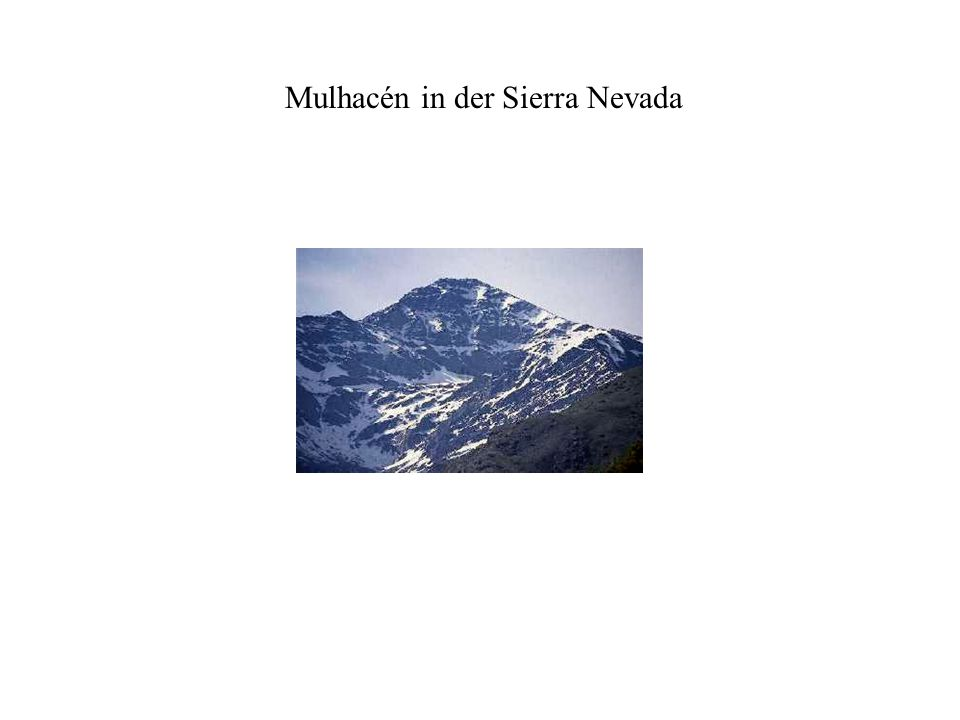 Mulhacén in der Sierra Nevada