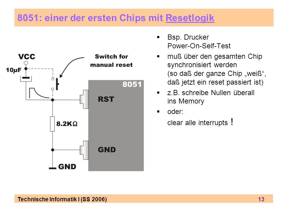 8051: einer der ersten Chips mit Resetlogik