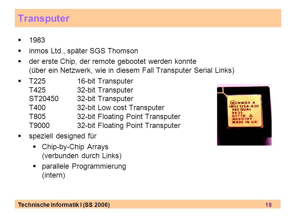 Transputer 1983 inmos Ltd., später SGS Thomson