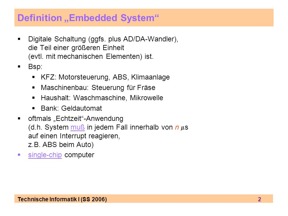 "Definition ""Embedded System"