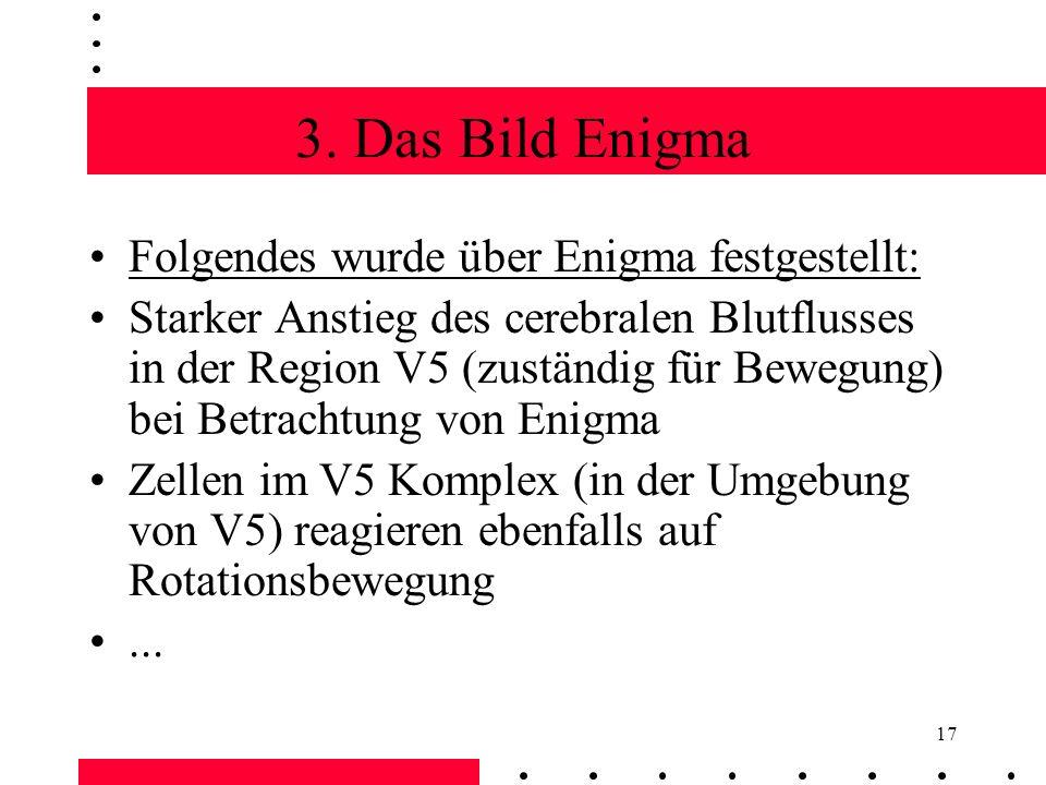 3. Das Bild Enigma Folgendes wurde über Enigma festgestellt: