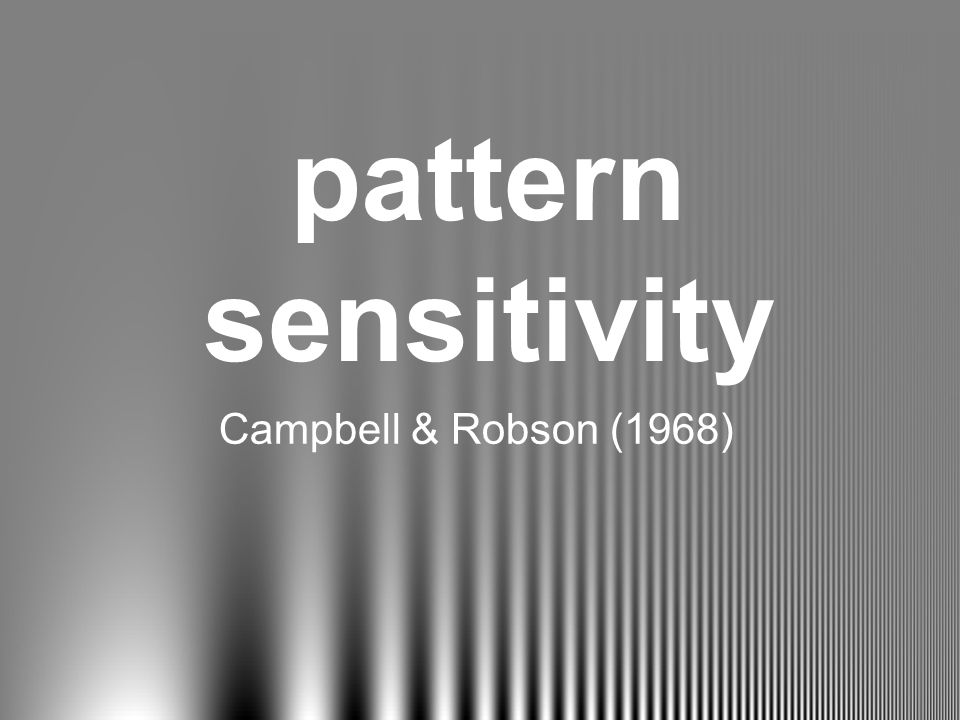 pattern sensitivity Campbell & Robson (1968)