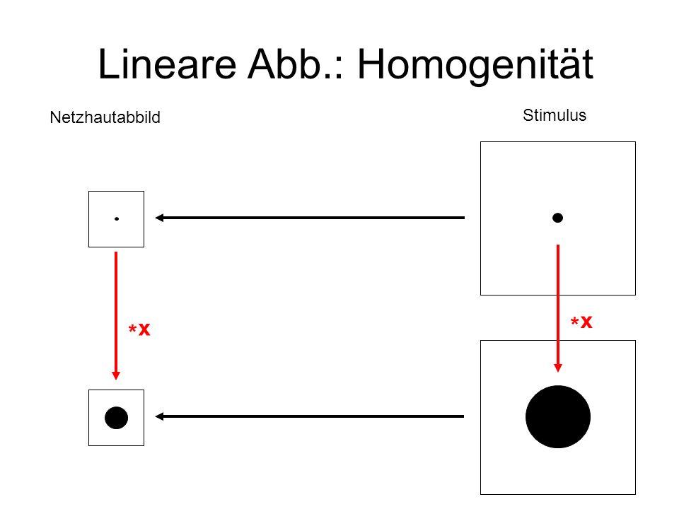 Lineare Abb.: Homogenität
