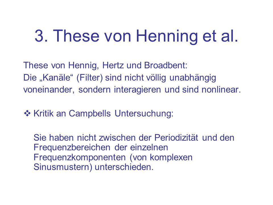 3. These von Henning et al. These von Hennig, Hertz und Broadbent: