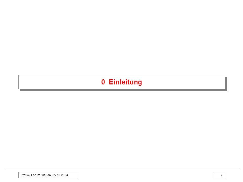 0 Einleitung Profke, Forum Gießen, 05.10.2004