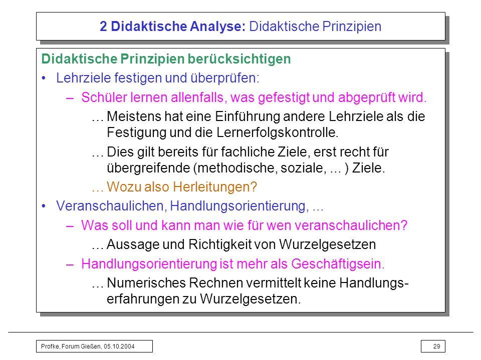 2 Didaktische Analyse: Didaktische Prinzipien