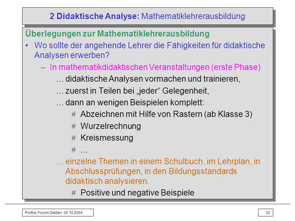 2 Didaktische Analyse: Mathematiklehrerausbildung
