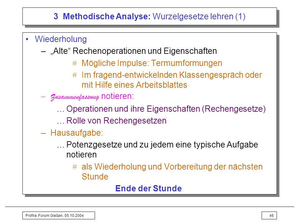3 Methodische Analyse: Wurzelgesetze lehren (1)