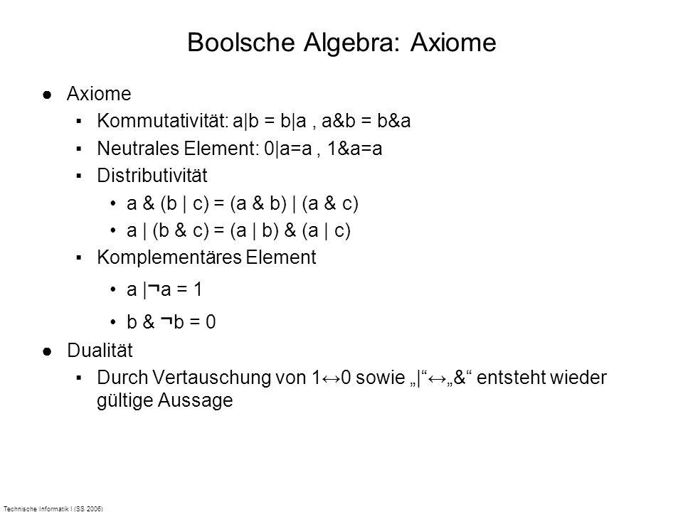 Boolsche Algebra: Axiome