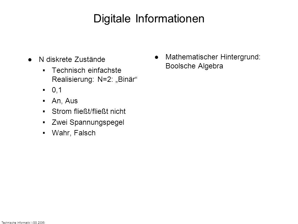 Digitale Informationen