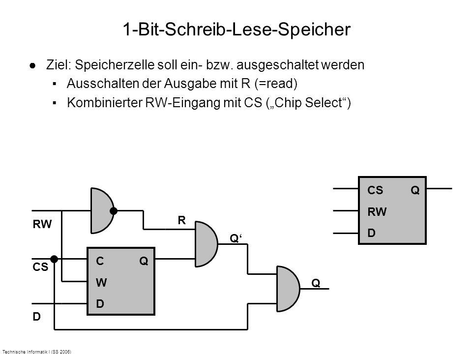 1-Bit-Schreib-Lese-Speicher