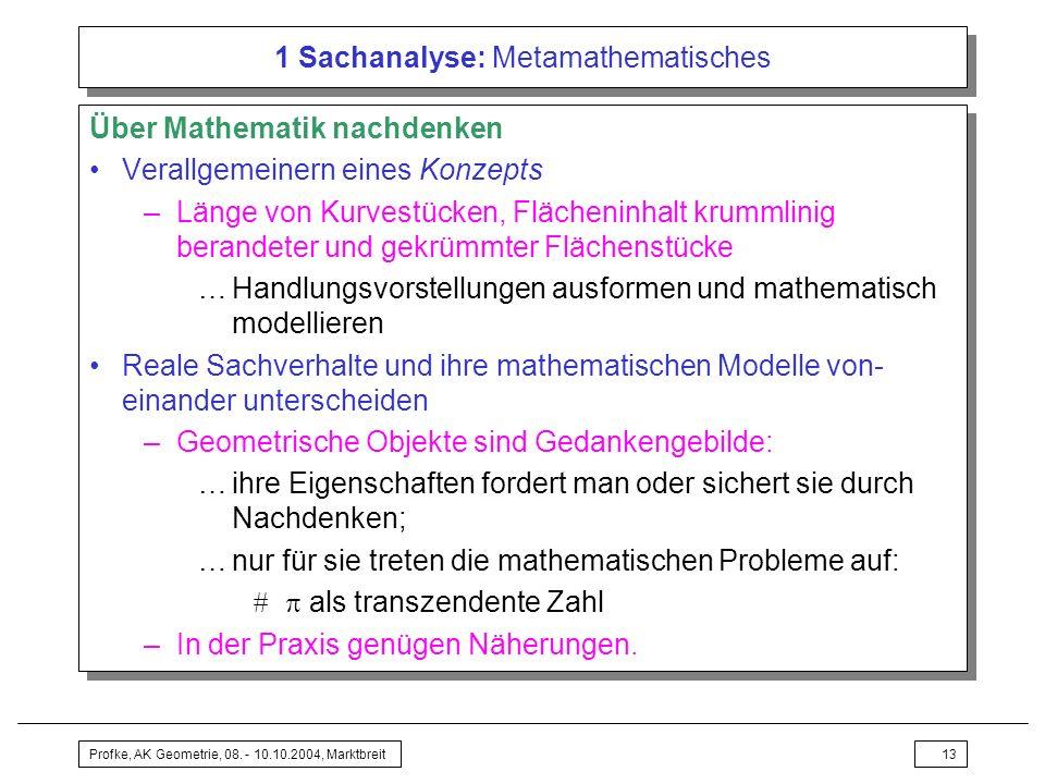 1 Sachanalyse: Metamathematisches