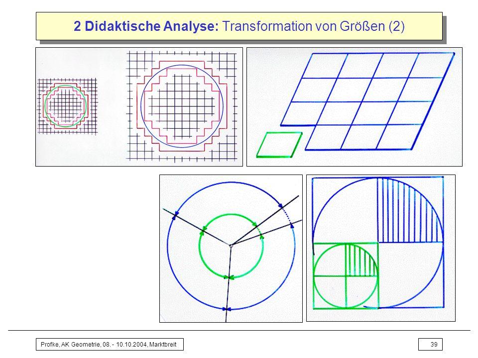 2 Didaktische Analyse: Transformation von Größen (2)