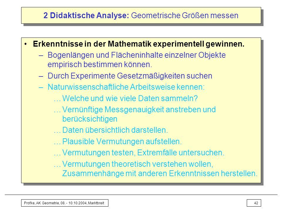 2 Didaktische Analyse: Geometrische Größen messen