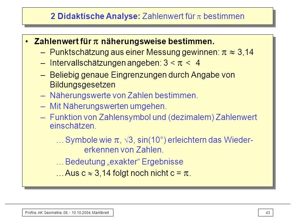 2 Didaktische Analyse: Zahlenwert für  bestimmen