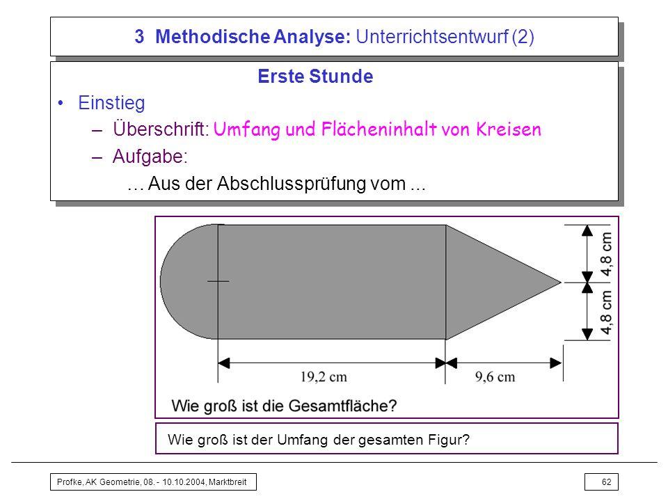3 Methodische Analyse: Unterrichtsentwurf (2)