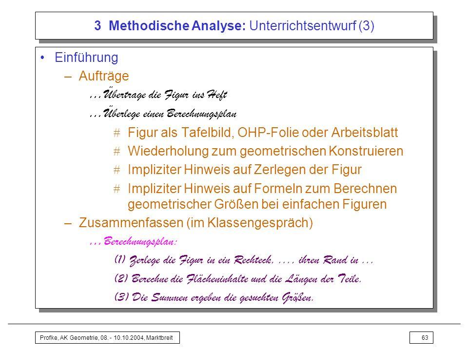 3 Methodische Analyse: Unterrichtsentwurf (3)
