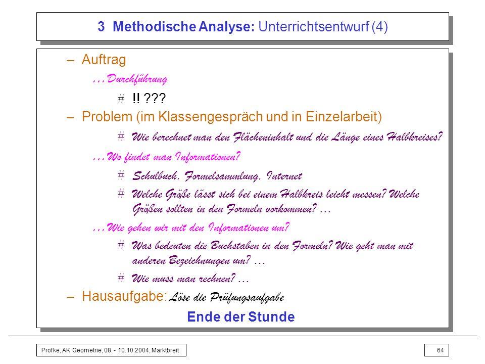 3 Methodische Analyse: Unterrichtsentwurf (4)