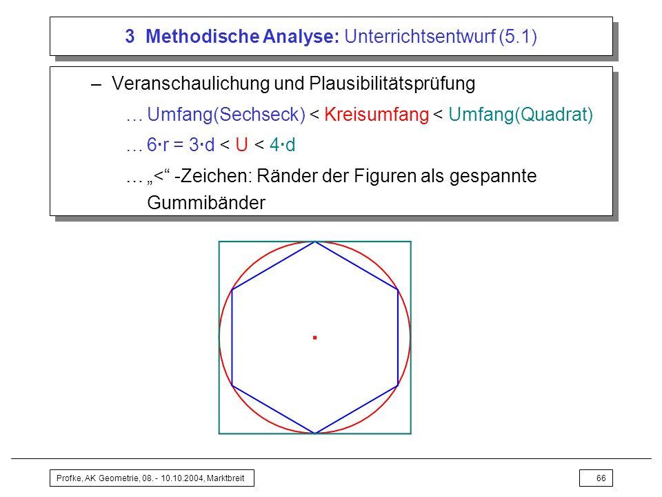 3 Methodische Analyse: Unterrichtsentwurf (5.1)