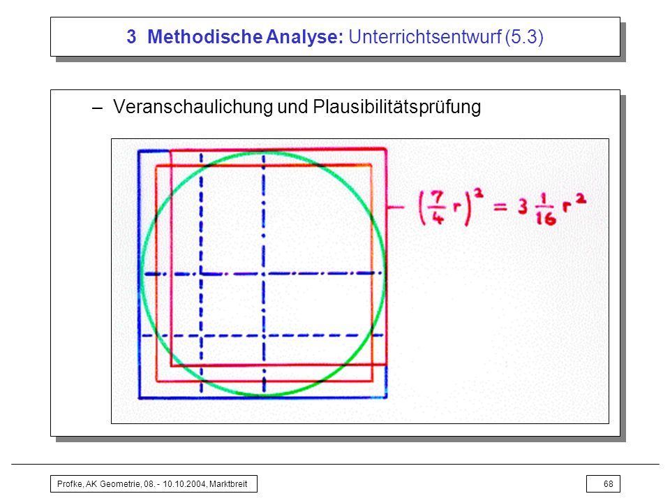 3 Methodische Analyse: Unterrichtsentwurf (5.3)