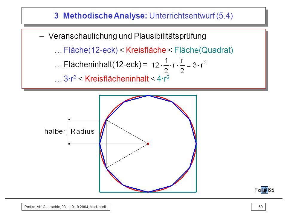 3 Methodische Analyse: Unterrichtsentwurf (5.4)
