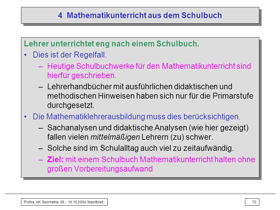 4 Mathematikunterricht aus dem Schulbuch