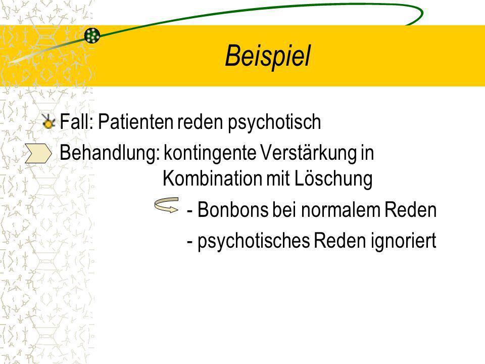 Beispiel Fall: Patienten reden psychotisch