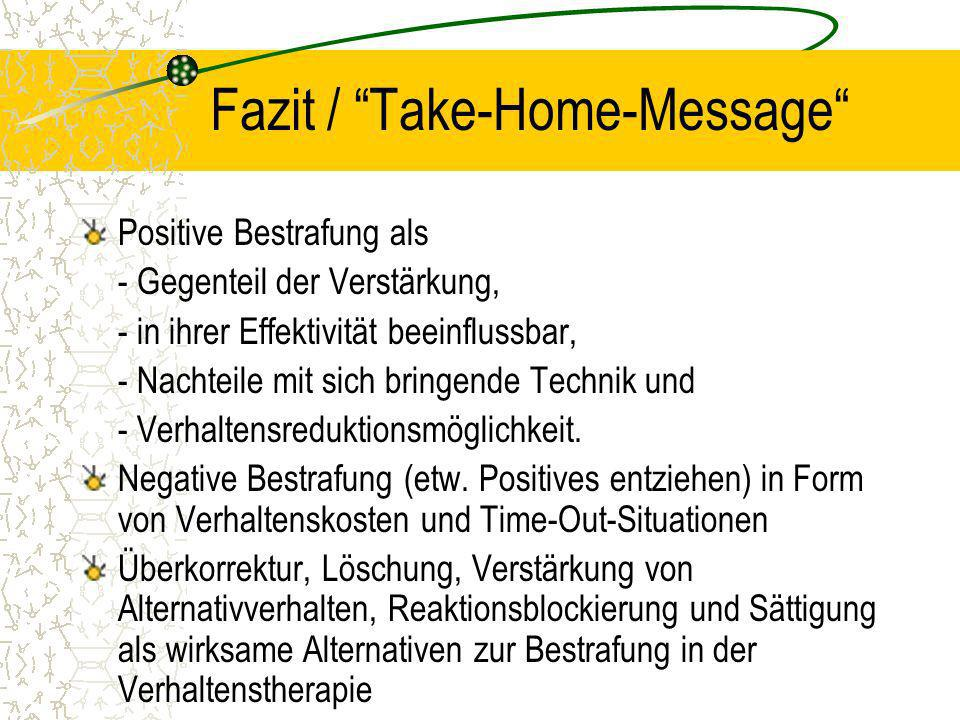 Fazit / Take-Home-Message