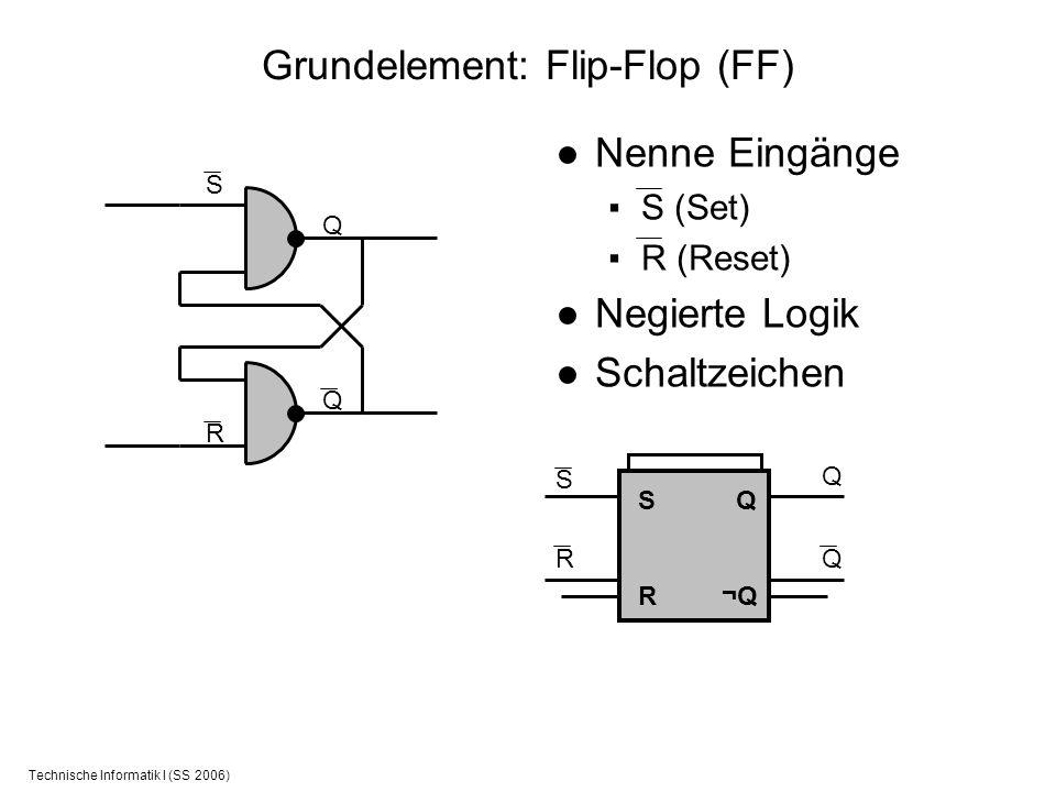 Grundelement: Flip-Flop (FF)