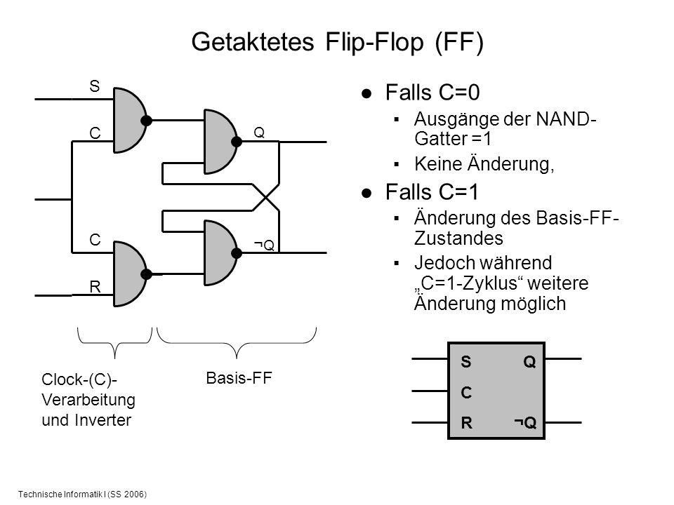 Getaktetes Flip-Flop (FF)