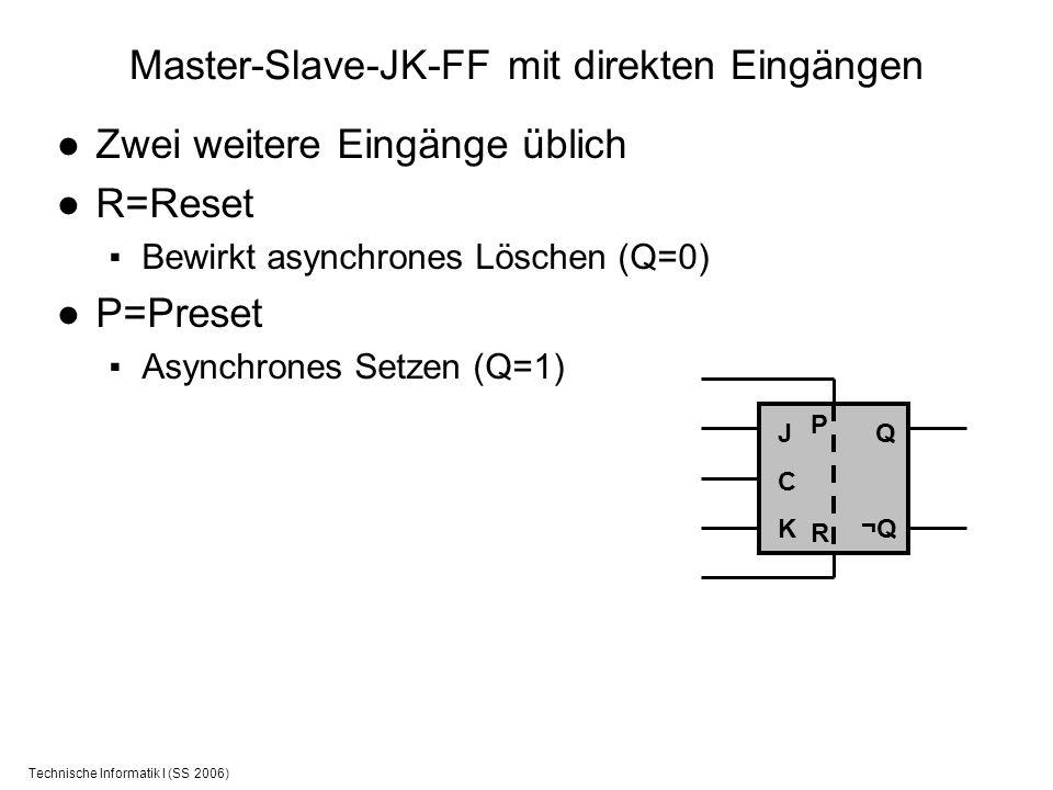 Master-Slave-JK-FF mit direkten Eingängen