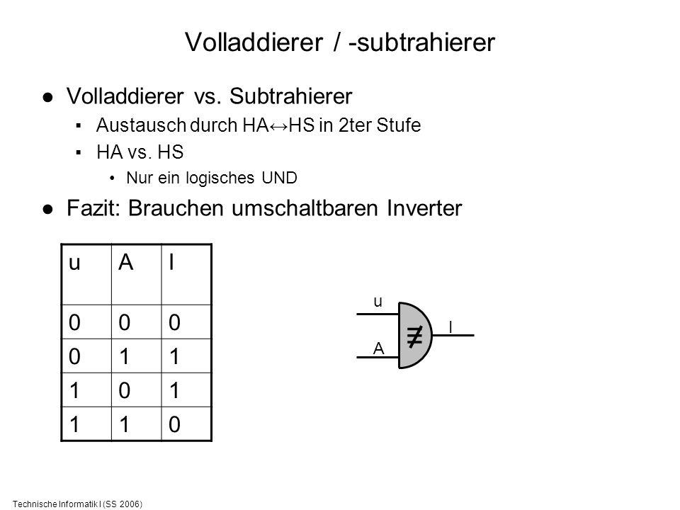 Volladdierer / -subtrahierer