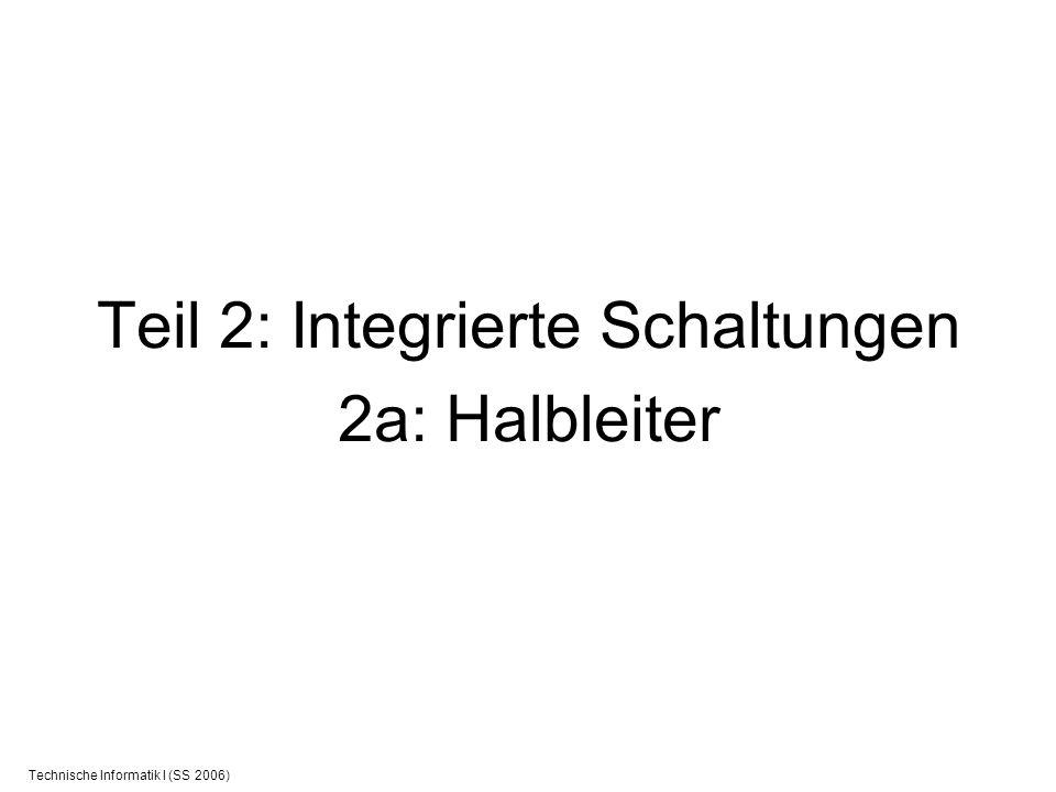 Teil 2: Integrierte Schaltungen 2a: Halbleiter