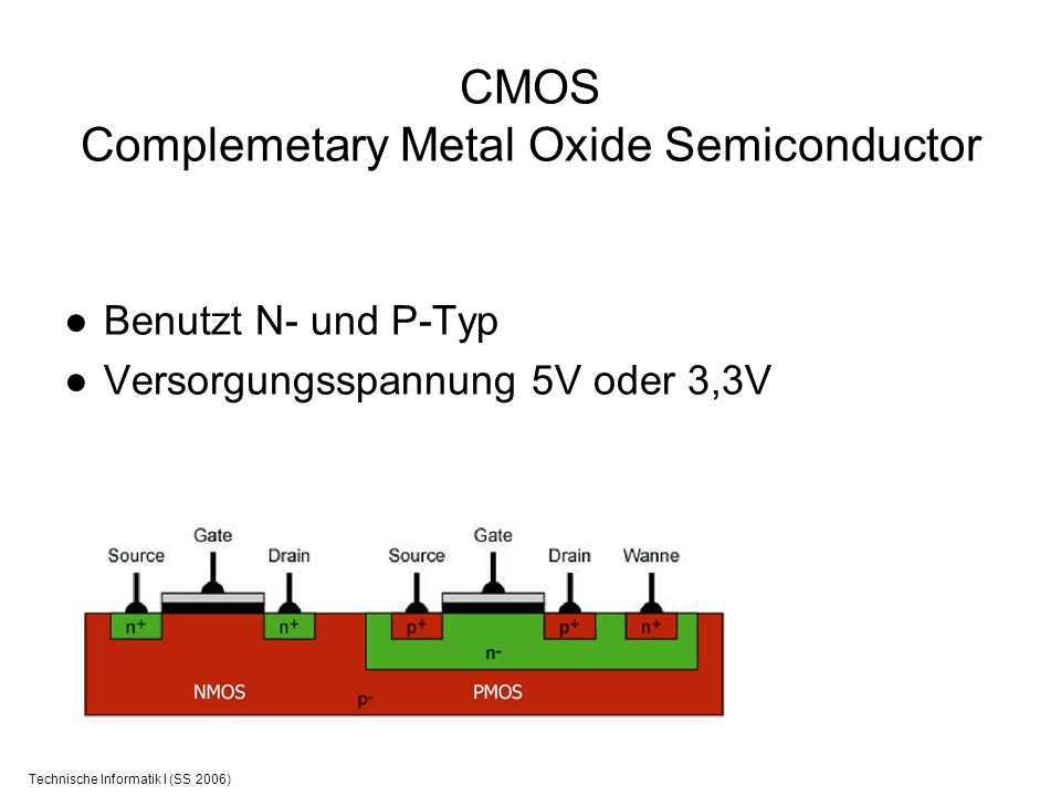 CMOS Complemetary Metal Oxide Semiconductor