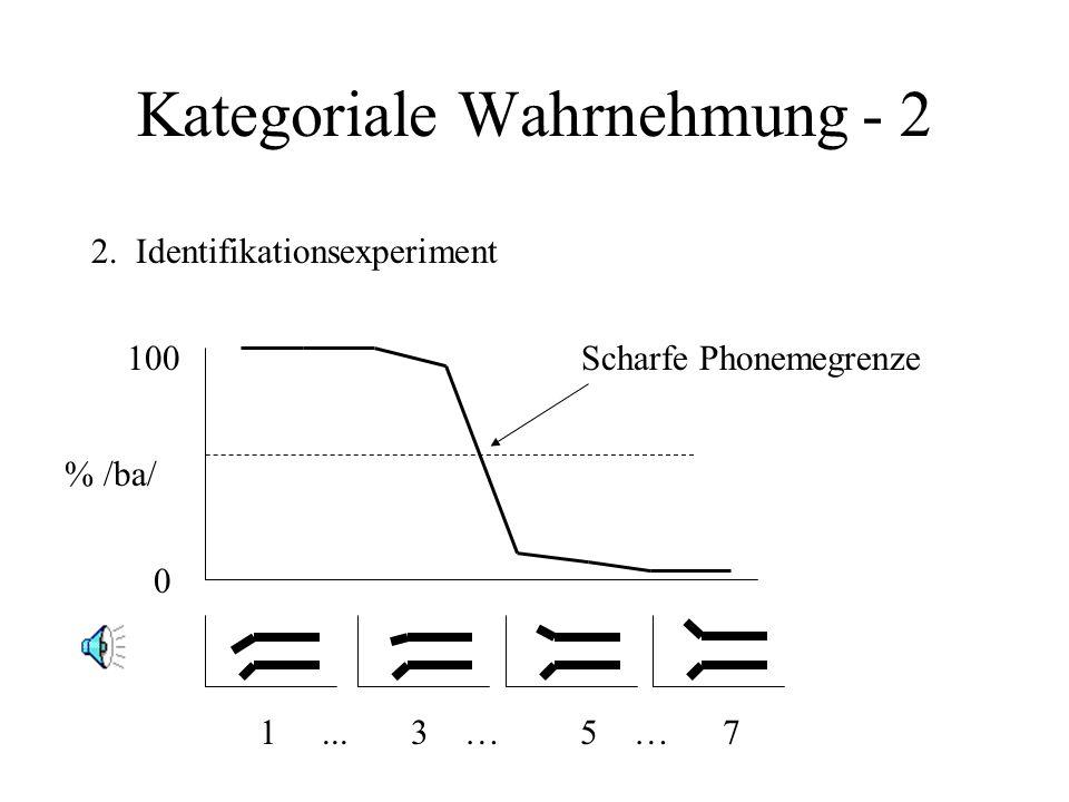 Kategoriale Wahrnehmung - 2