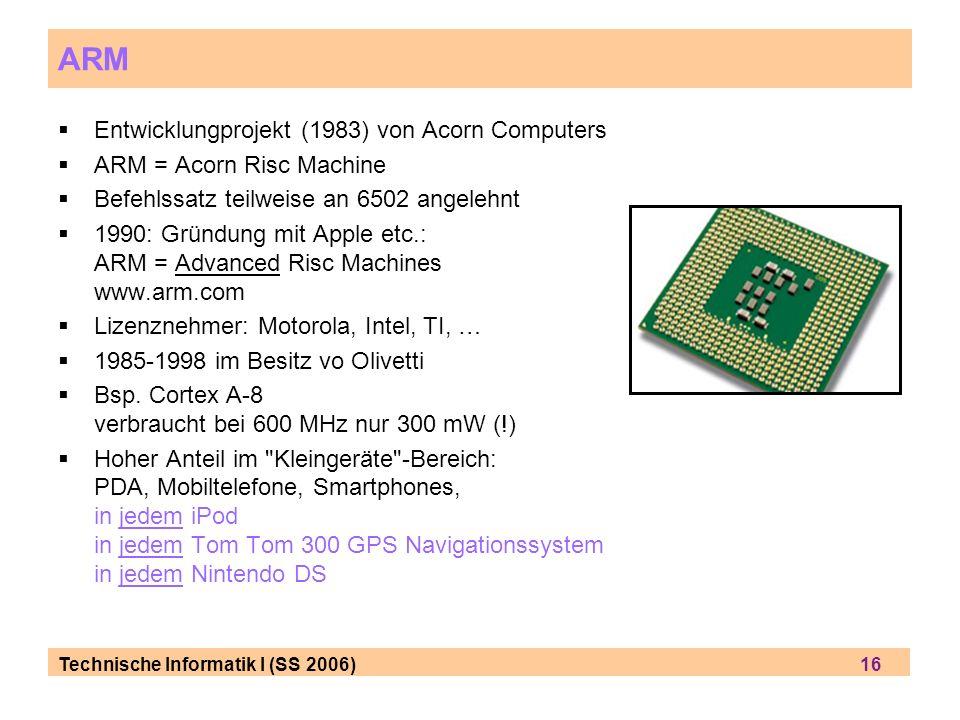 ARM Entwicklungprojekt (1983) von Acorn Computers