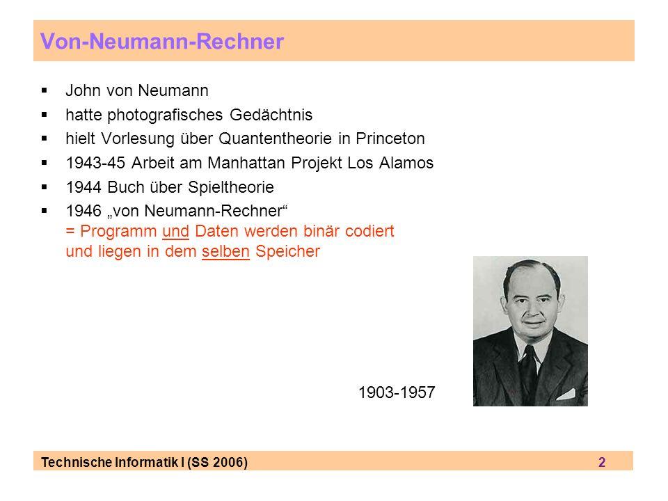 Von-Neumann-Rechner John von Neumann hatte photografisches Gedächtnis
