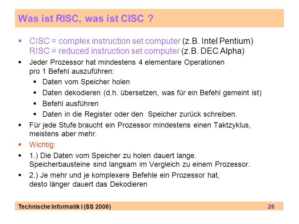 Was ist RISC, was ist CISC