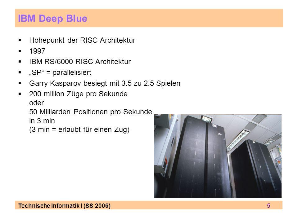 IBM Deep Blue Höhepunkt der RISC Architektur 1997