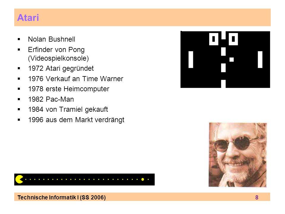 Atari Nolan Bushnell Erfinder von Pong (Videospielkonsole)